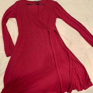Cranberry wrap dress